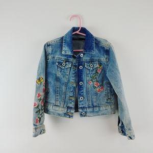 GEORGE   Kids Floral Jean Jacket Size 6